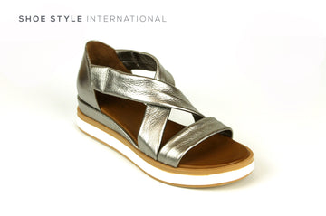Inuovo Sandals, Inuovo Shoes, Slip-on Open Toe Sandals in Pewter, Shoes Online, Shoe Style International Location Wexford Gorey Ireland