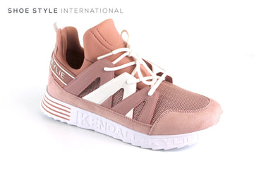 Kendall  + Kylie Low Top Sneaker with Laces to Close, Colour Light Pink White, Ireland Shoe Shops online, Shoe Style International, Location Wexford Gorey, Ireland