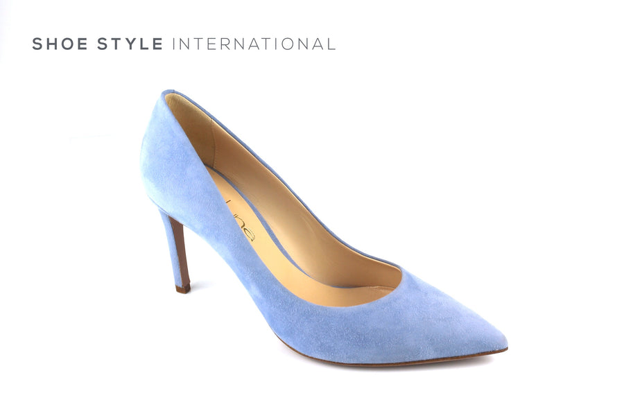 Evaluna 1606 Colour Light Blue in Suede finish high heel court shoe, Ireland Shoe Shops online, Shoe Style International, Location Wexford Gorey, Ireland