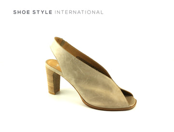 Perlato 11075, Soft Leather Elastic Slingback High Heel with Peep Toe in Colour Taupe, Shoe_Style_International-Wexford-Gorey-Ireland