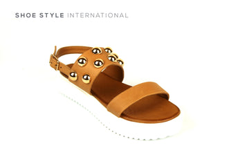 Inuovo Sandals, Inuovo 128016 Tan Open Toe Sandal with Ankle Strap Closing. Shoe Style International, Online Shoes in Ireland, Location Wexford and Gorey Ireland