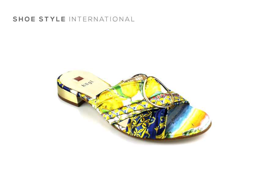 Hogl Shoes, Hogl Open Toe Mules, Mutli Colour Design, Shoe_Style_International-Wexford-Gorey-Ireland