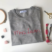 Load image into Gallery viewer, Mrs Personalized Sweater