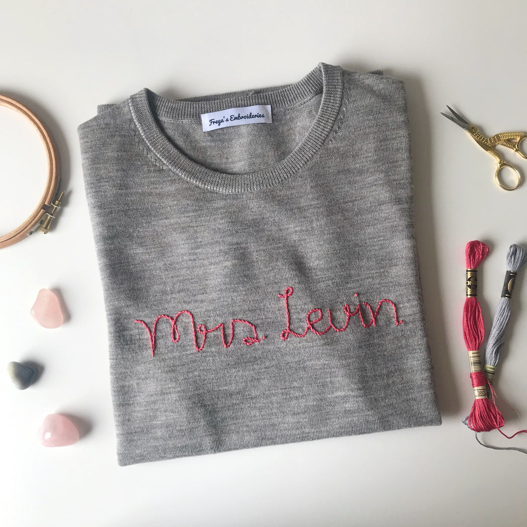 Mrs Personalized Sweater