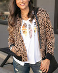 Grace and lace Cheetah dot bomber jacket