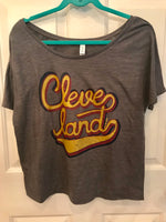Cleveland Script in Cavs colors