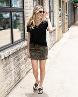 G&L Camo denim skirt