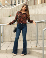 Grace and Lace Flare Cut Jeggings