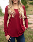 Long Sleeve Perfect Pocket Tee
