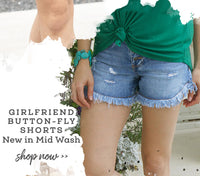 Girlfriend buttonfly shorts