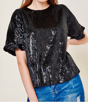 Sequin ruffle top