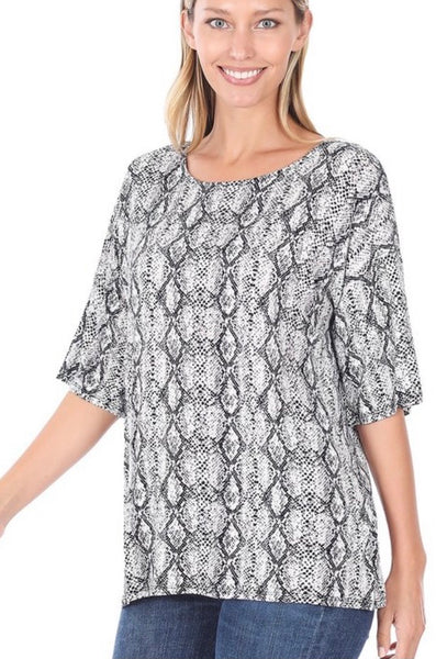 Zenana Half sleeve dropped shoulder top
