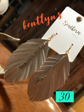 Fringed Feather drop earrings