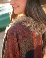 Grace and Lace Dakota Faux Fur Poncho