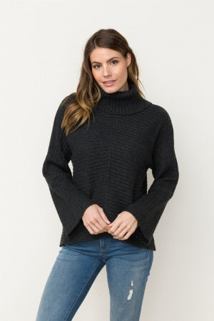 Mystree Dolman Sleeve turtleneck sweater