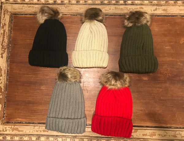 Fleece lined winter hats -non sparkle