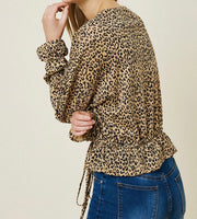 Leopard peplum sweater