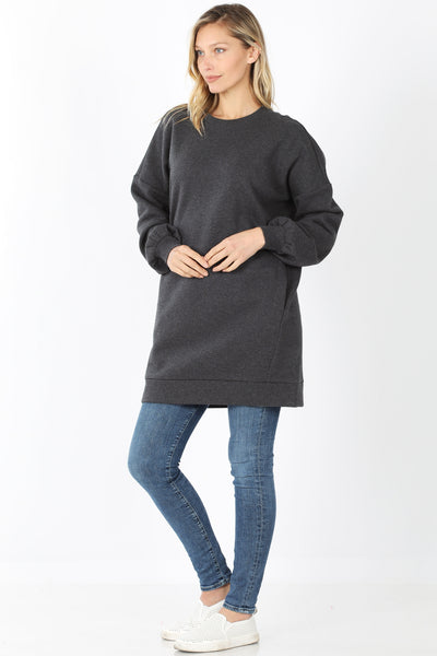 Zenana Oversized Tunic Sweatshirt