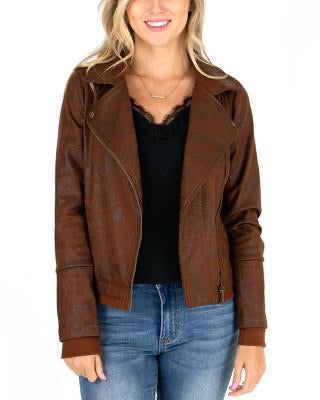 Grace & Lace Move Free Leather Look Moto Jacket