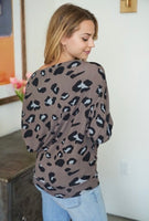 White Birch brown cheetah top
