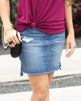 G & L step Hem  Denim Skirt