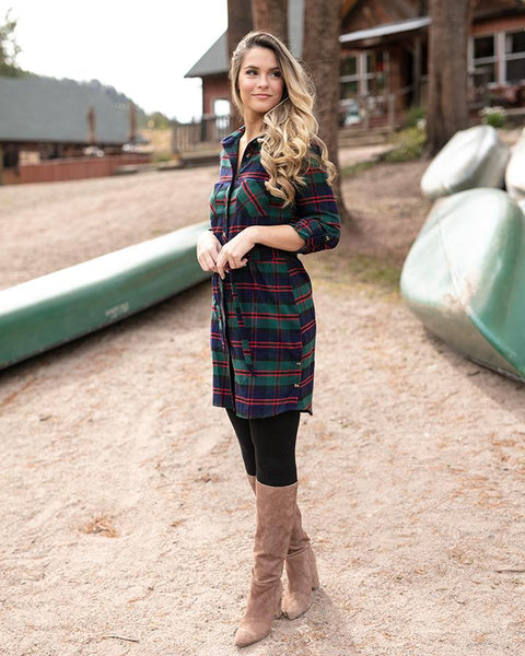 G & L Stretch-flex flannel dress