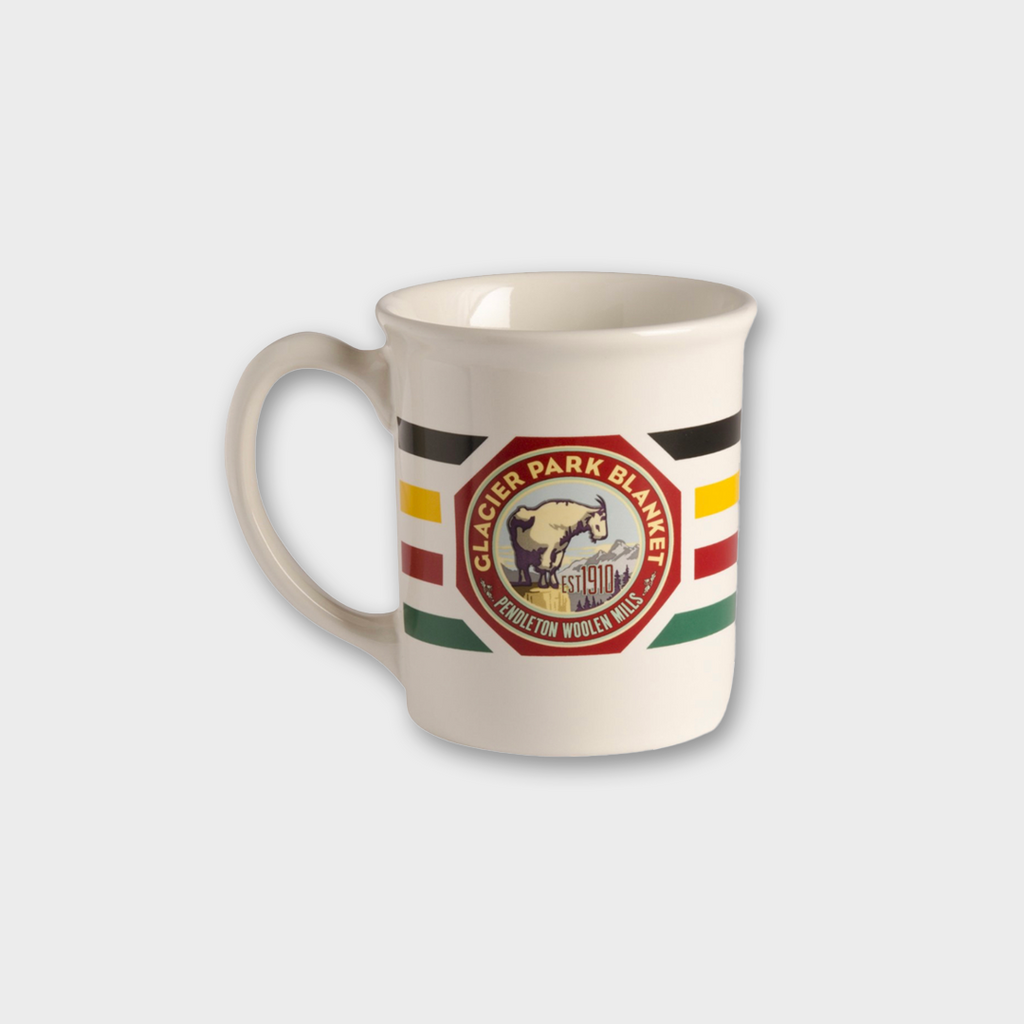PENDLETON USA Glacier National Park Oversized Ceramic Mug - White