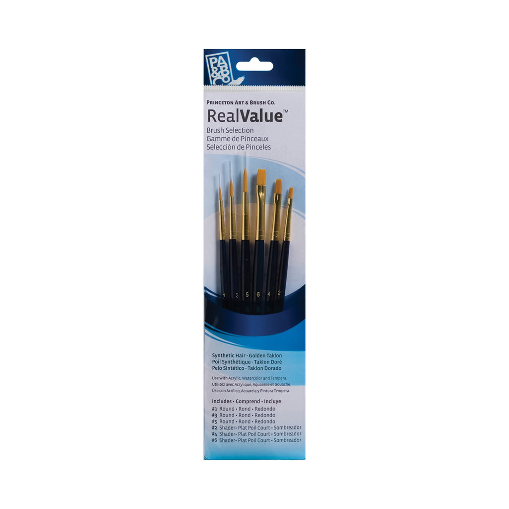 Princeton Golden Taklon Synthetic Hair 6 Brush Set (9137)