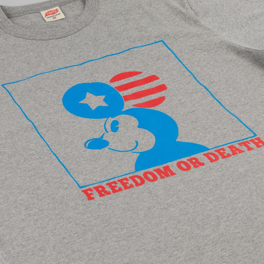 TSPTR Freedom Or Death T-Shirt - Grey Marl