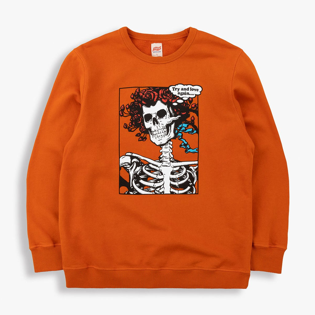 TSPTR Love Again Sweatshirt - Pumpkin Orange