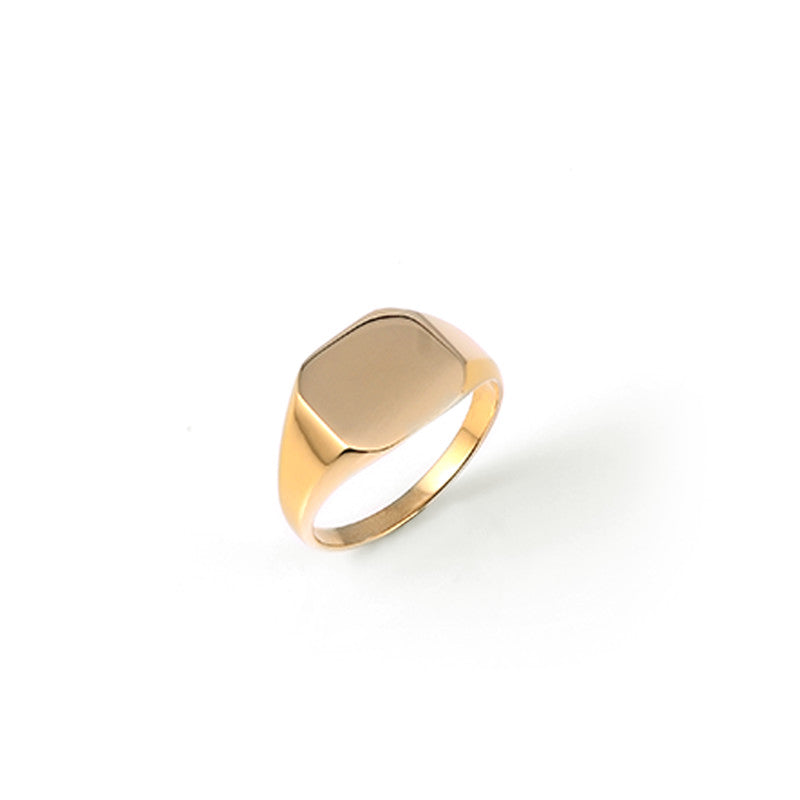 A.Kjaerbede 316 Stainless Steel Ring - Gold