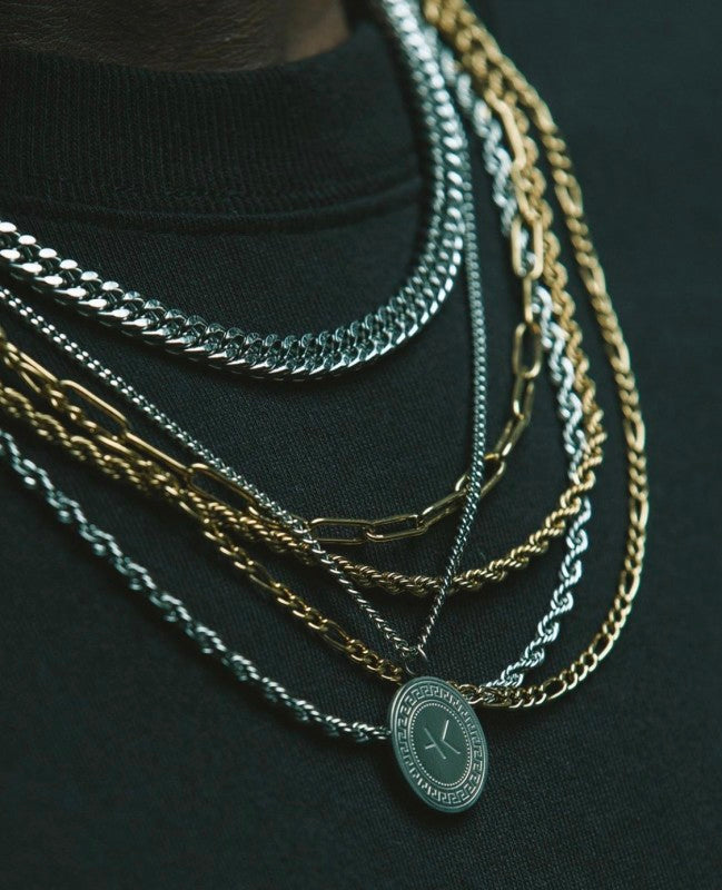 A.Kjaerbede 316 Stainless Steel Rope Necklace Luke - Gold