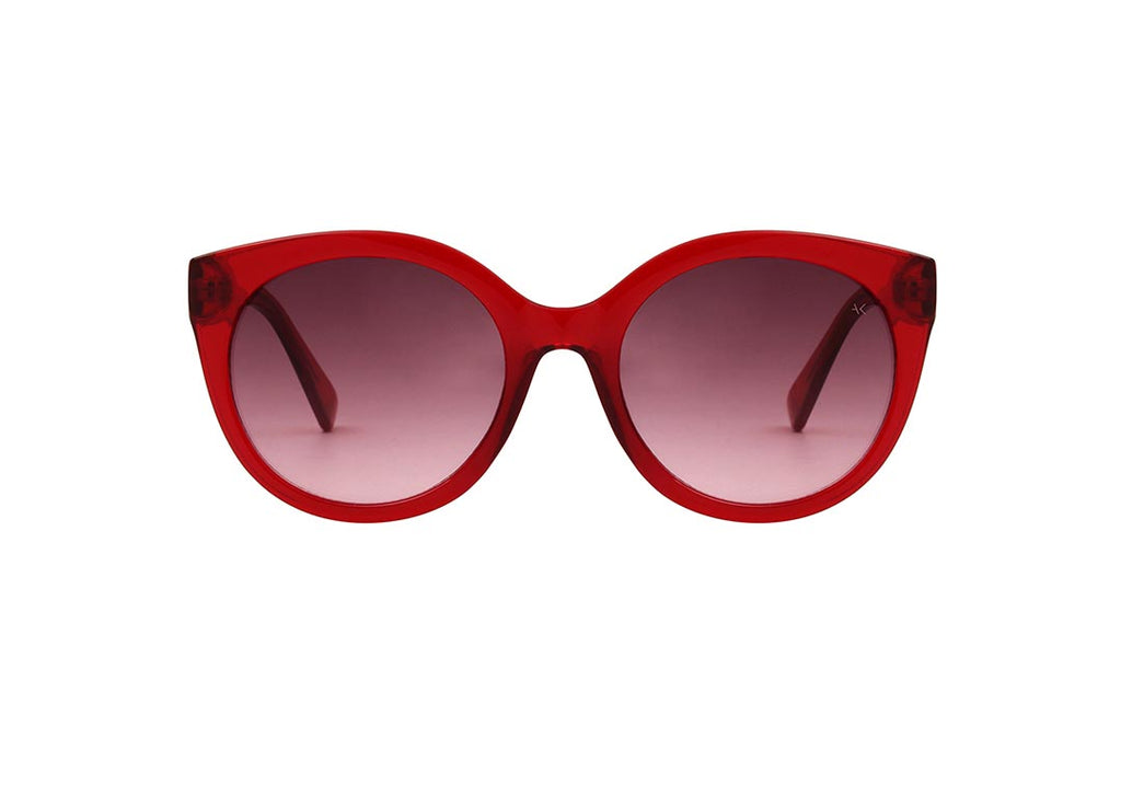 A.Kjaerbede Handmade Sunglasses Butterfly - Red Transparent