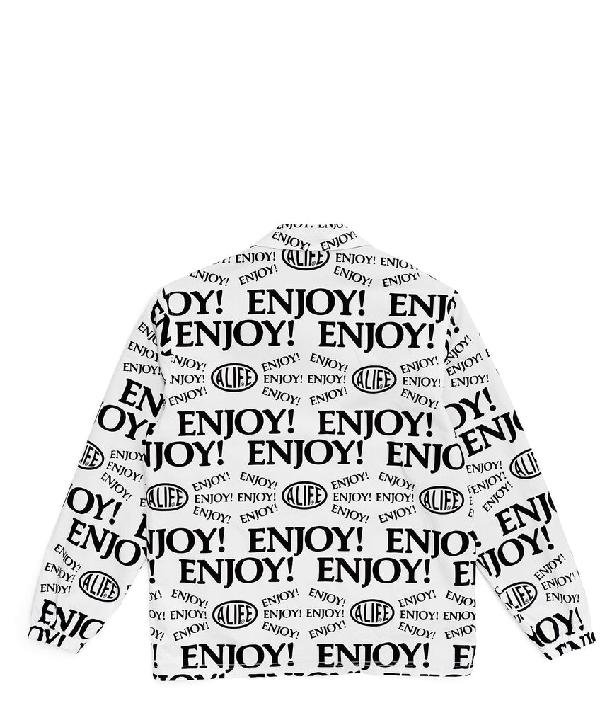 Alife Enjoy! Workwear Jacket - White / Black