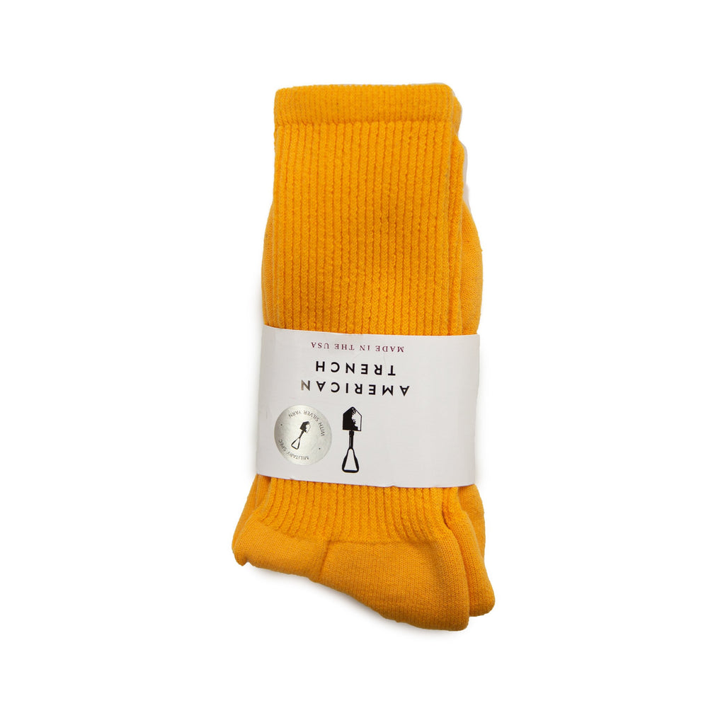 American Trench Mil-Spec Socks With Silver - Yellow