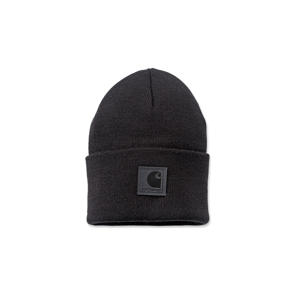 Carhartt Acrylic Watch Hat - Black - Black Logo