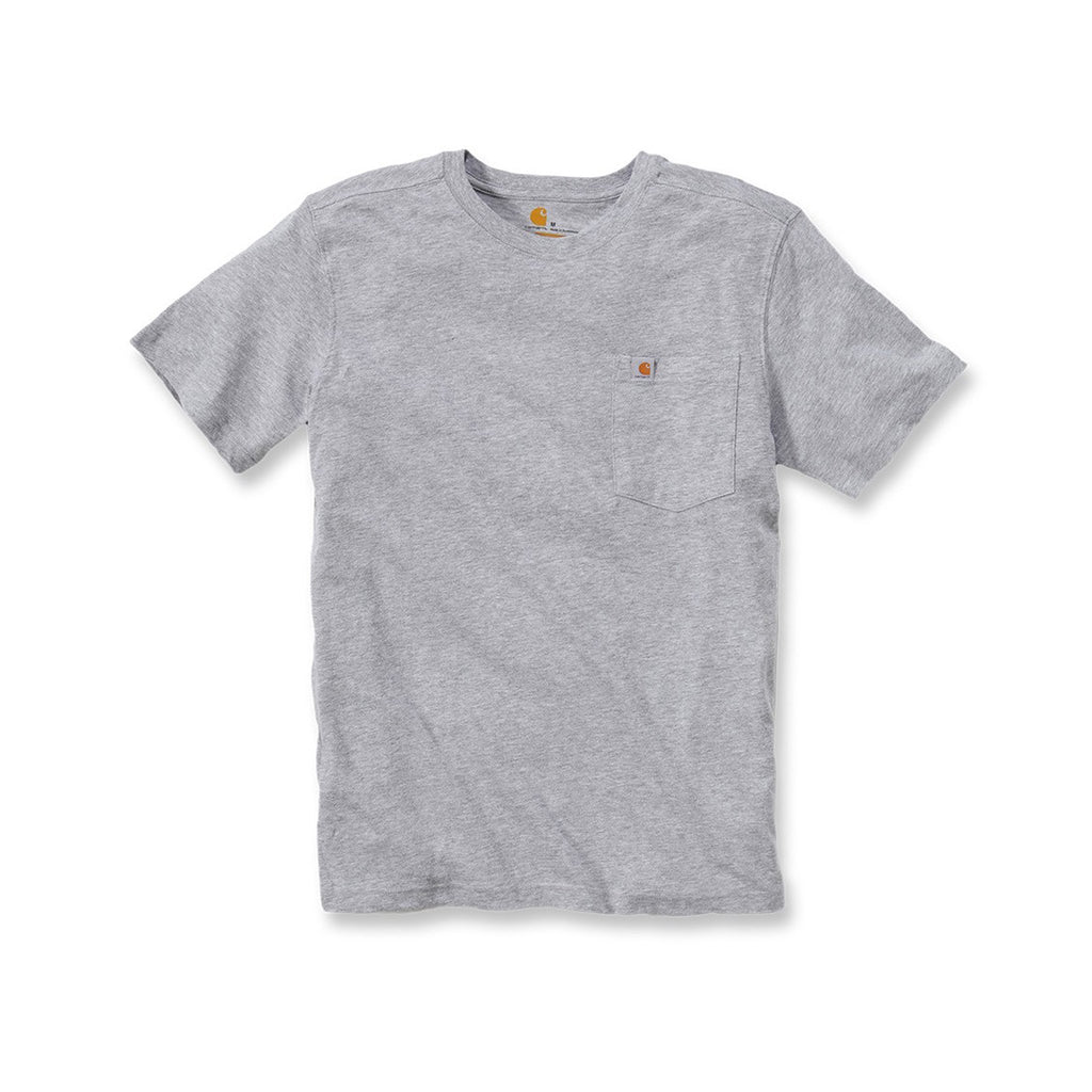 Carhartt Maddock Pocket T-Shirt - Heather Grey