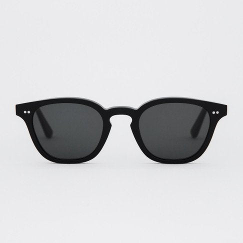 Monokel HandCrafted Eyewear River - Black with Solid Green Lens