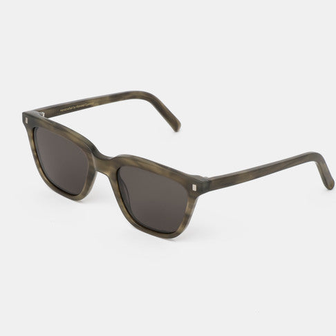 Monokel HandCrafted Eyewear Robotnik - Green Demi with Solid Grey Lens