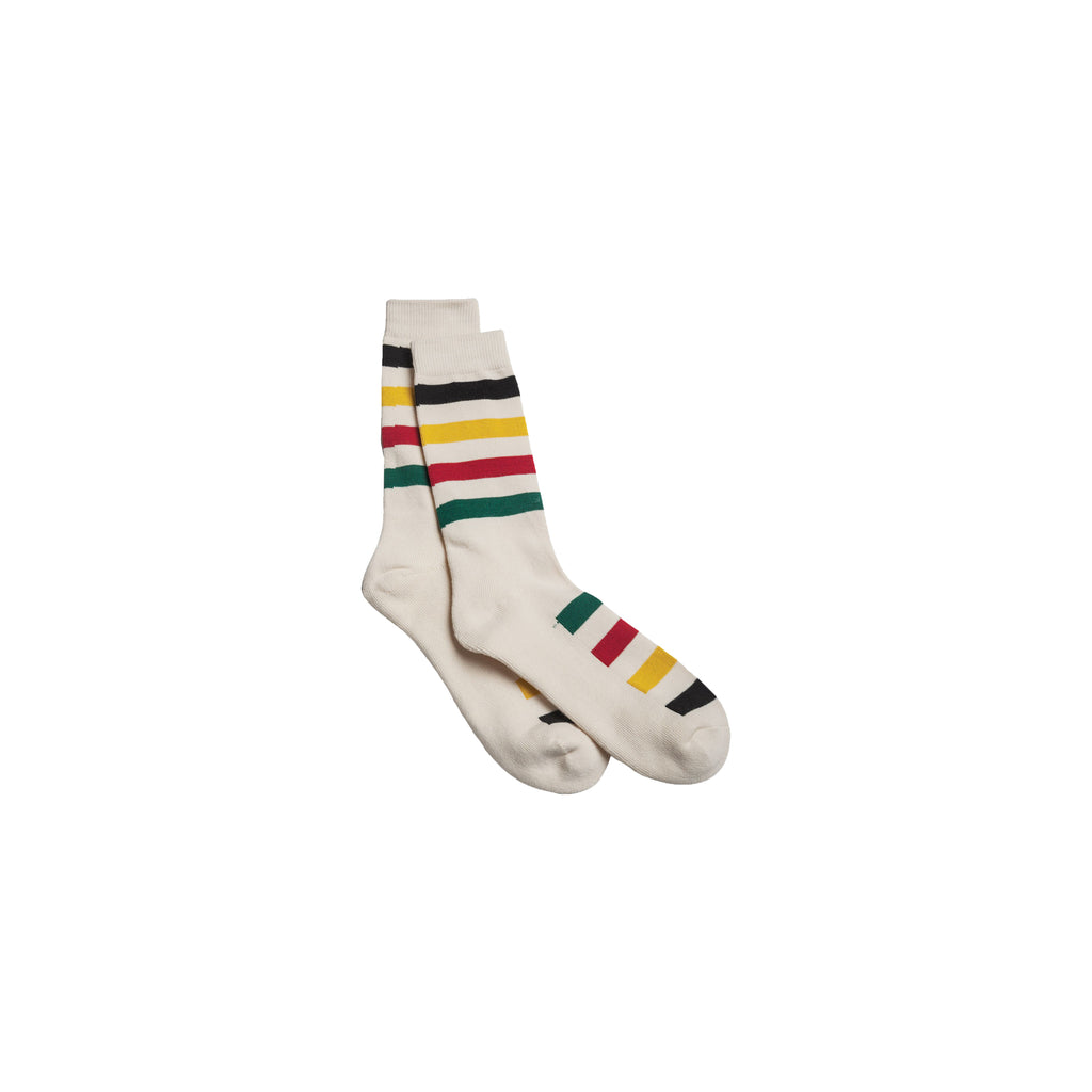 Pendleton National Park Crew Socks Glacier - White