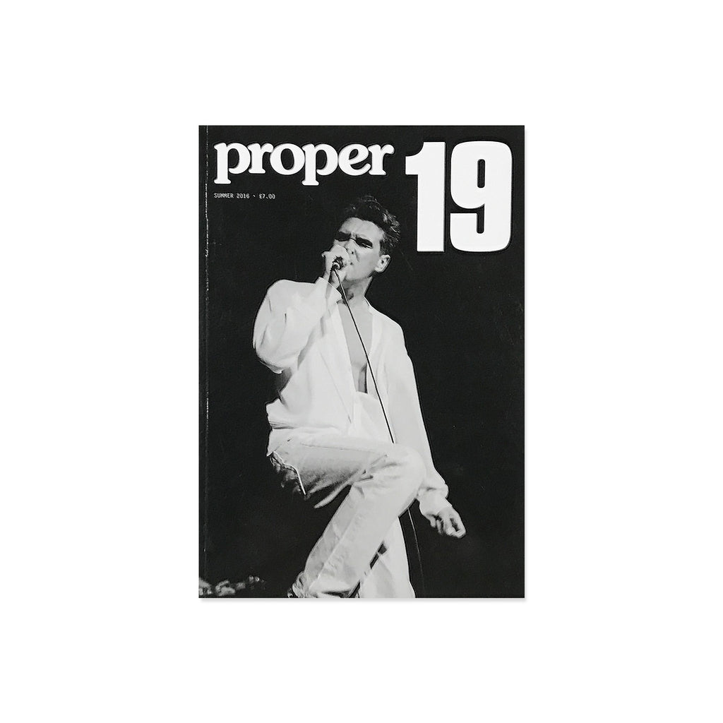 Proper Magazine Issue 19 - Morrisey Cover