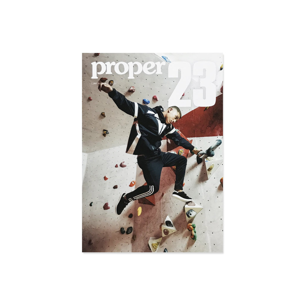 Proper Magazine Issue 23 - Climbing Wall Cover
