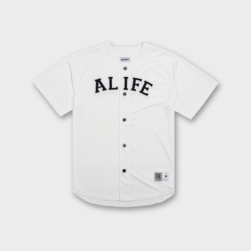 Alife New York Baseball Mesh Jersey - Cream
