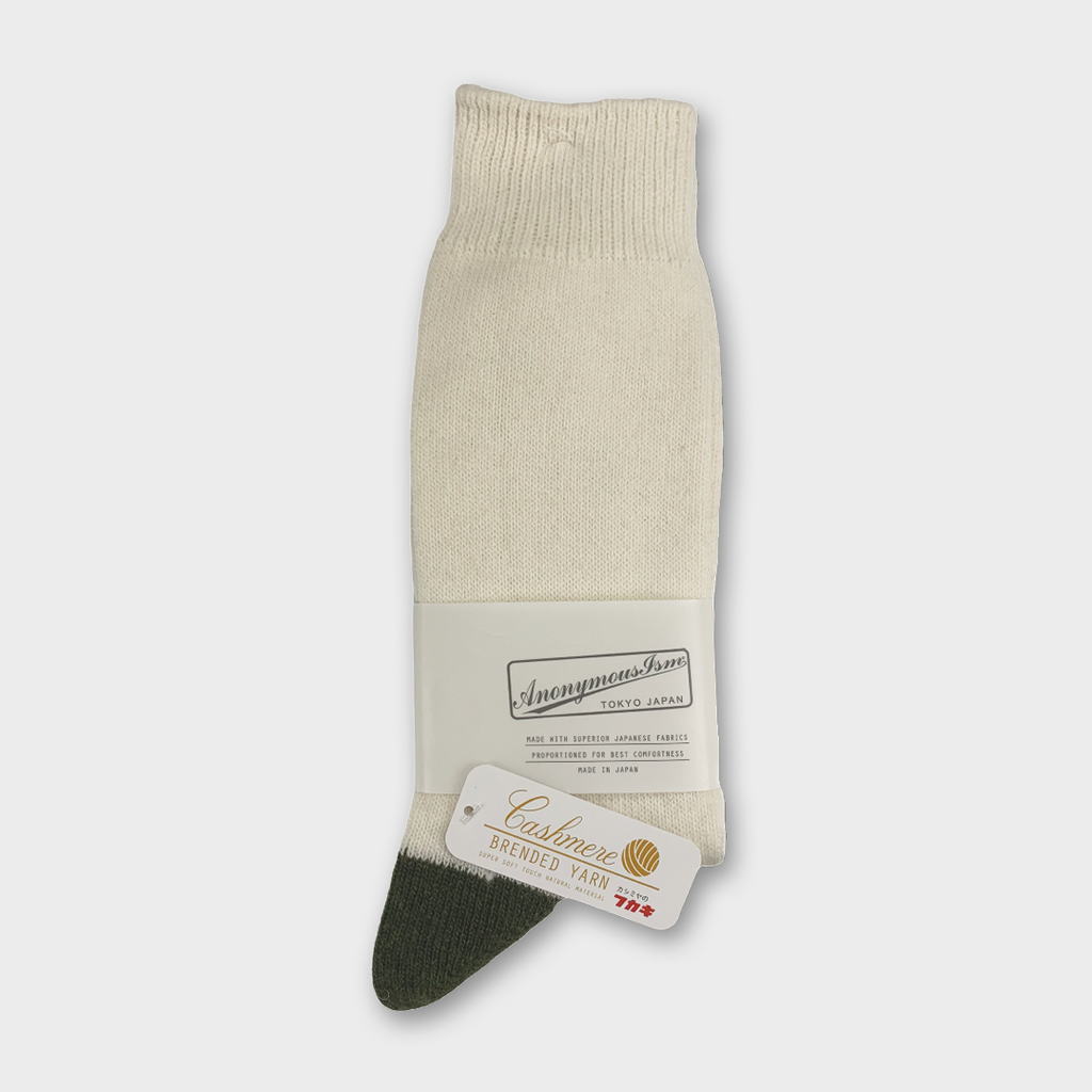 Anonymous Ism Japan Cashmere Wool Crew Socks - Off White