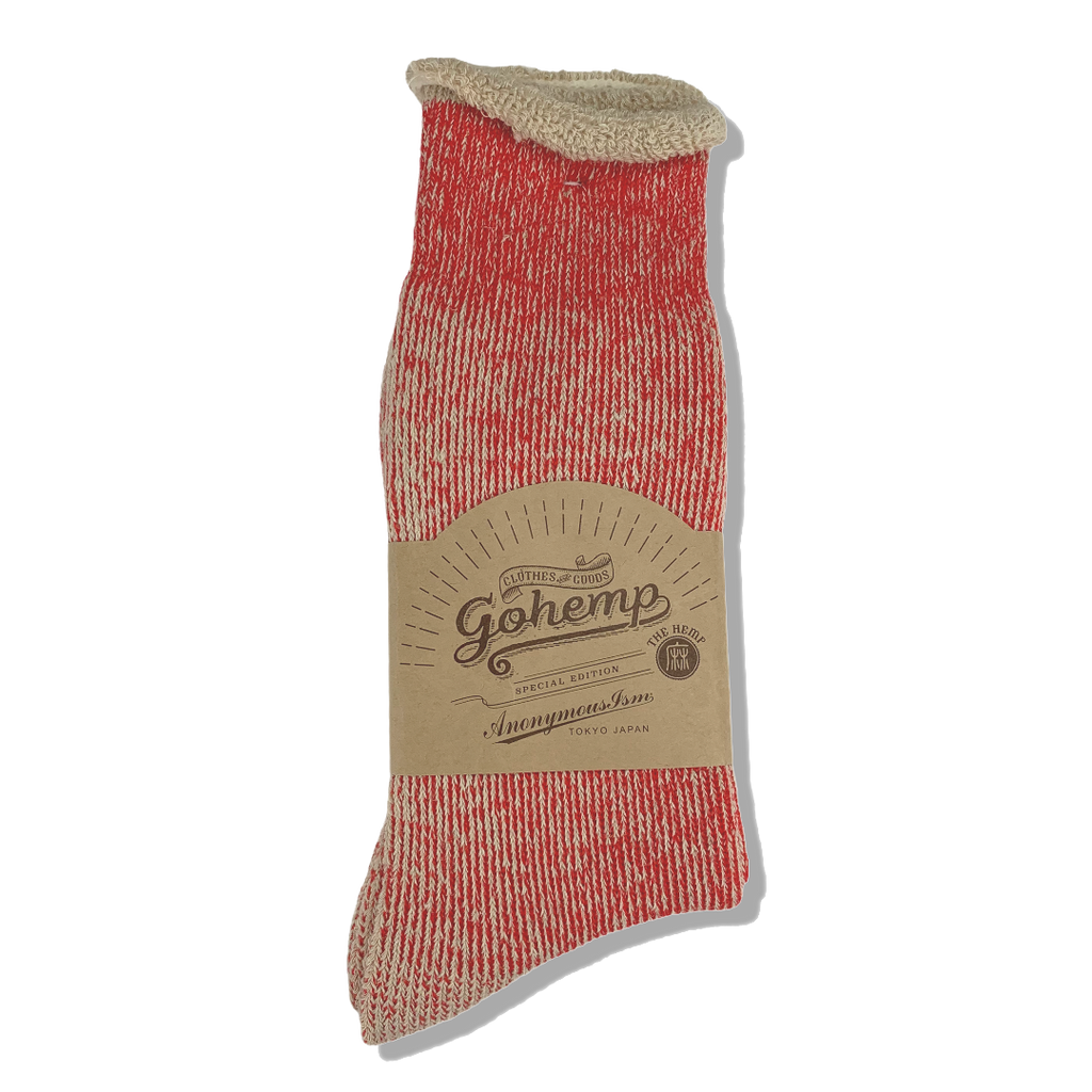 Anonymous Ism Japan Go Hemp Socks - Red