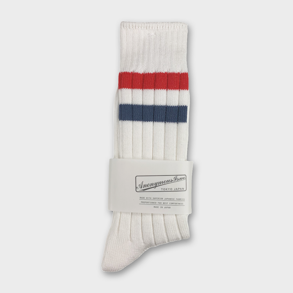 Anonymous Ism Japan Line Crew Socks - White
