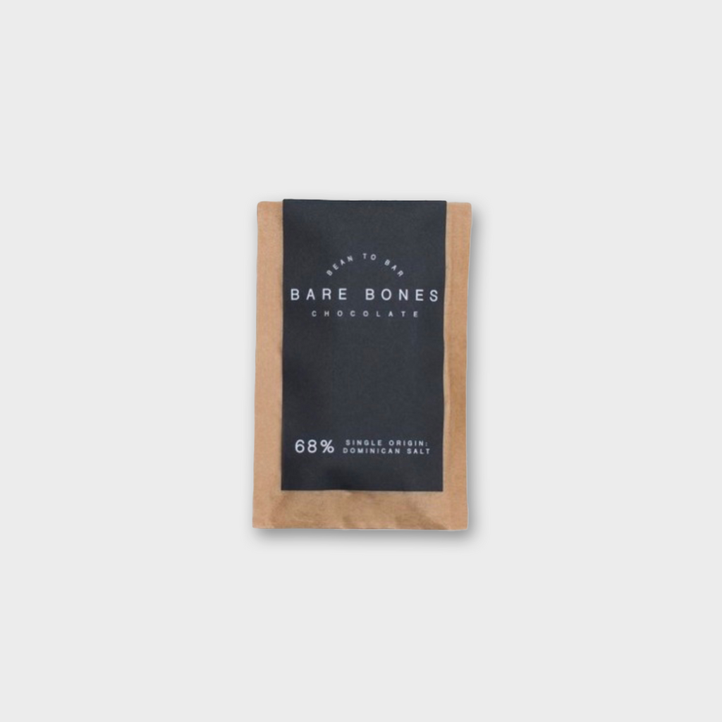 BARE BONES CHOCOLATE (GLASGOW) - DOMINICAN 68% SALTED 20g