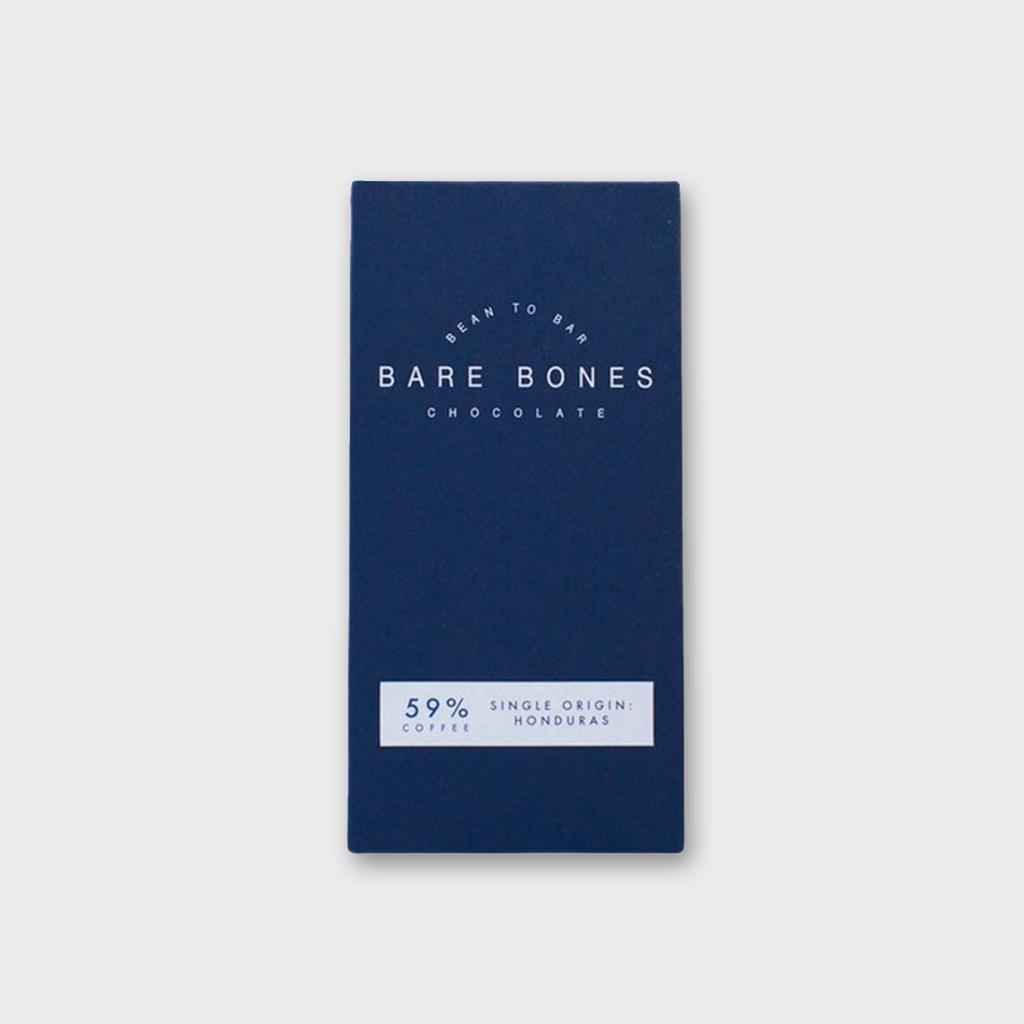 BARE BONES CHOCOLATE (GLASGOW) - HONDURAS 59% & ETHIOPIAN COFFEE 70g