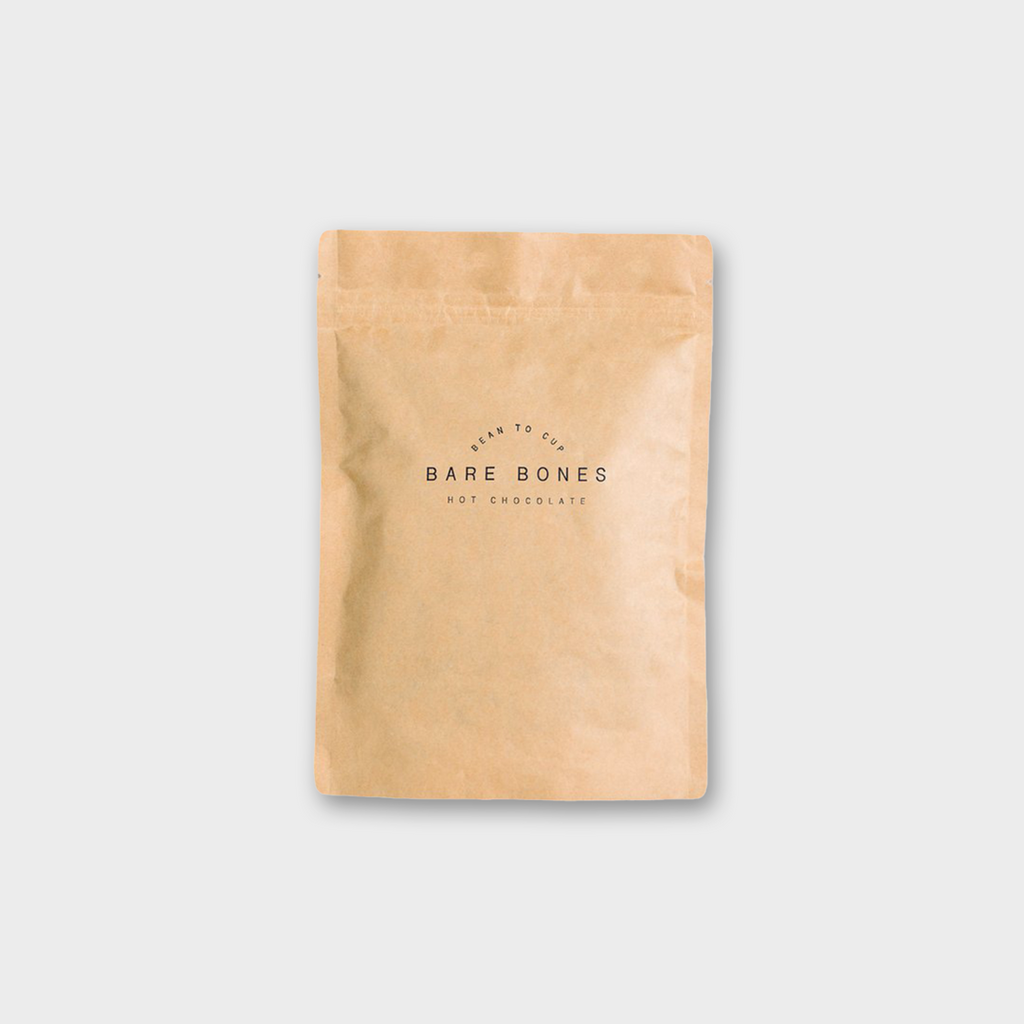 BARE BONES CHOCOLATE (GLASGOW) - LIMITED EDITION 68% DOMINICAN REPUBLIC SALTED HOT CHOCOLATE 250g