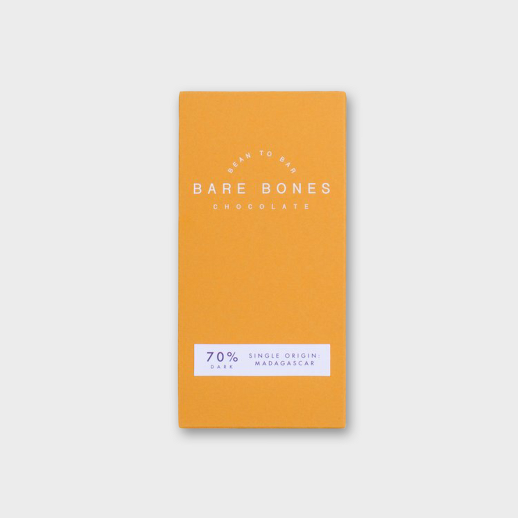 BARE BONES CHOCOLATE (GLASGOW) - MADAGASCAR 70% DARK 70g